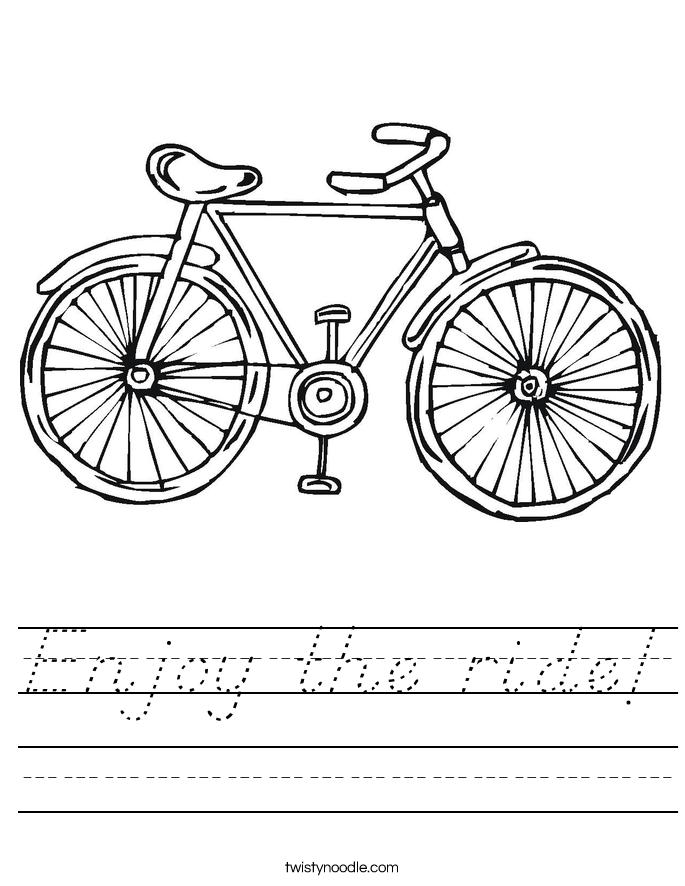 Enjoy the ride! Worksheet