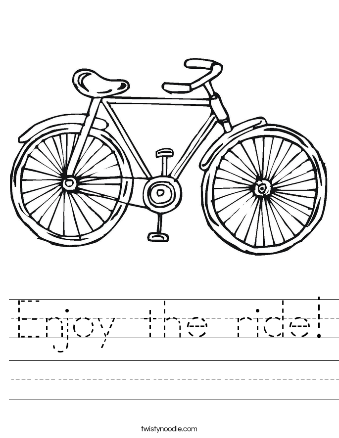 Enjoy the ride! Worksheet