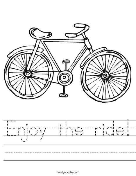 Bicycle Worksheet