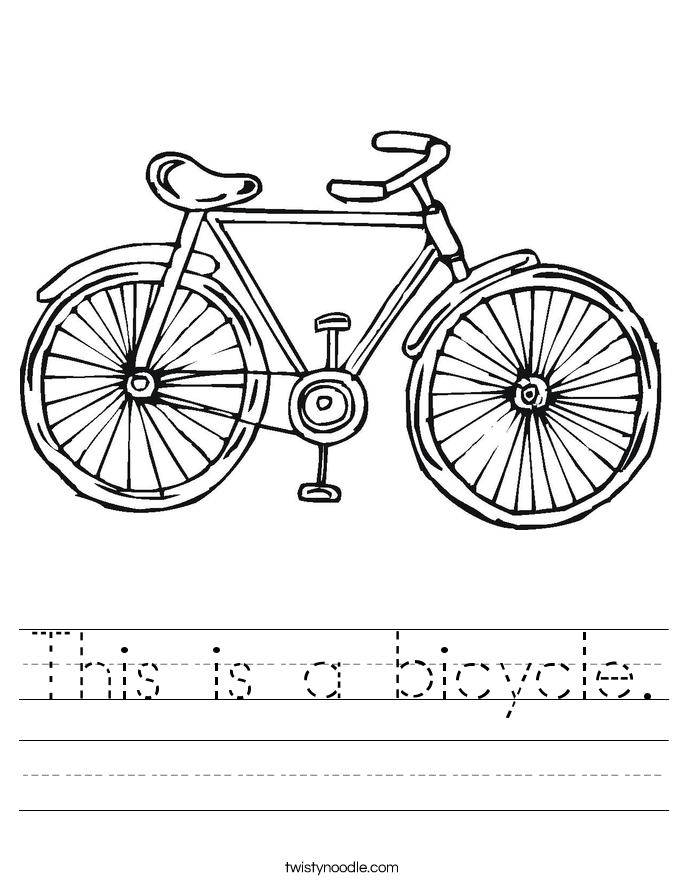 This is a bicycle. Worksheet