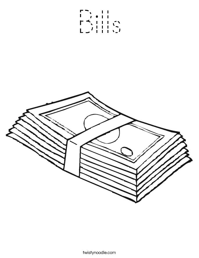 Bills Coloring Page
