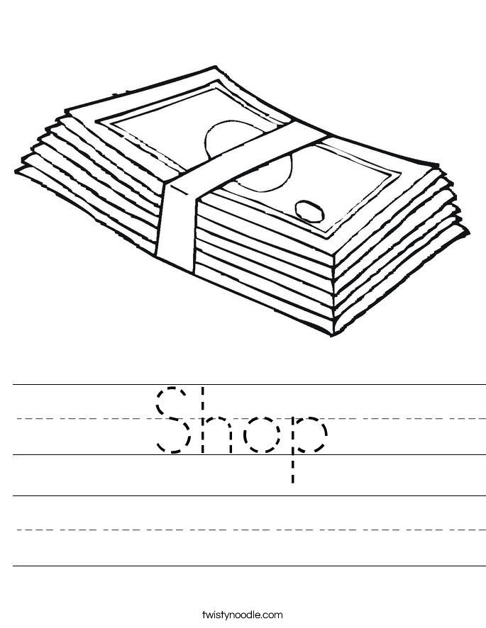 Shop Worksheet