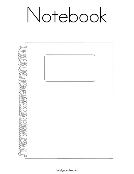 Notebook Coloring Page