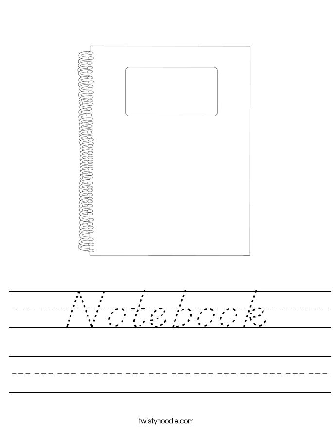 Notebook Worksheet