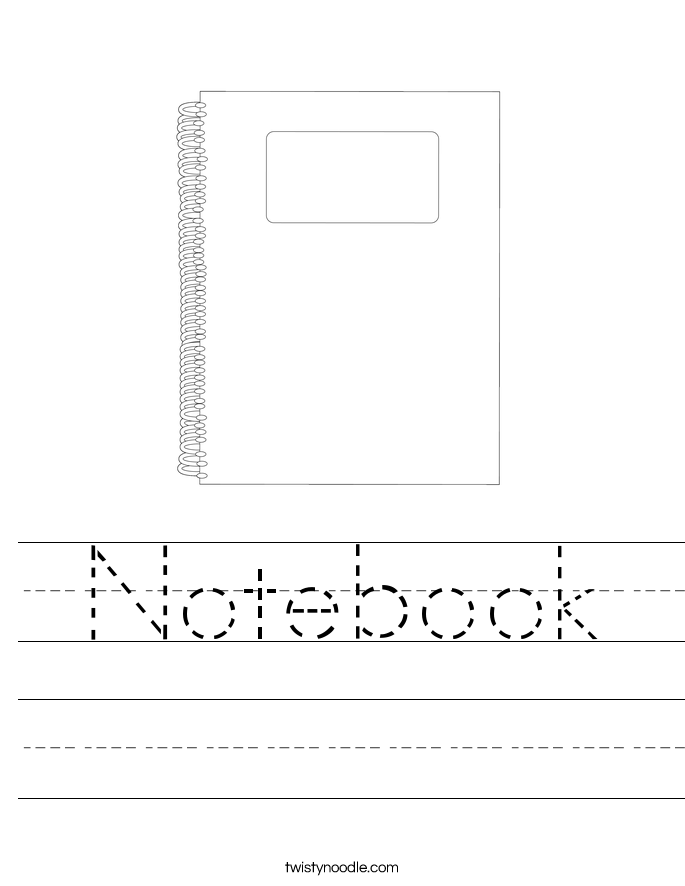 Notebook Worksheet