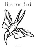 B is for BirdColoring Page