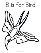 B is for Bird Coloring Page