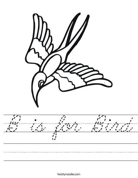 Flying Bird Worksheet