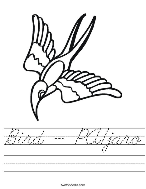 Flying Bird Worksheet