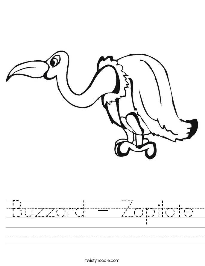 Buzzard - Zopilote Worksheet