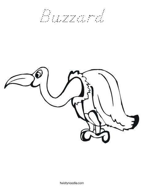 Buzzard Coloring Page