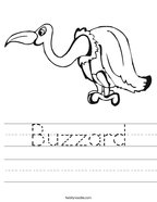 Buzzard Handwriting Sheet