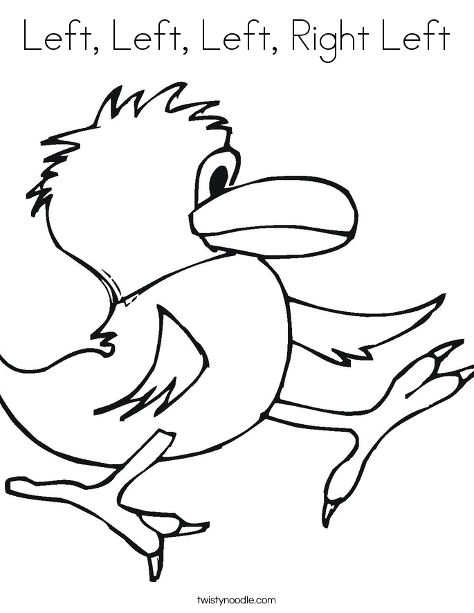 Left, Left, Left, Right Left Coloring Page