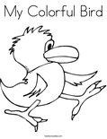My Colorful Bird Coloring Page