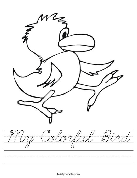 Walking Bird Worksheet