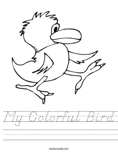 Walking Bird Worksheet