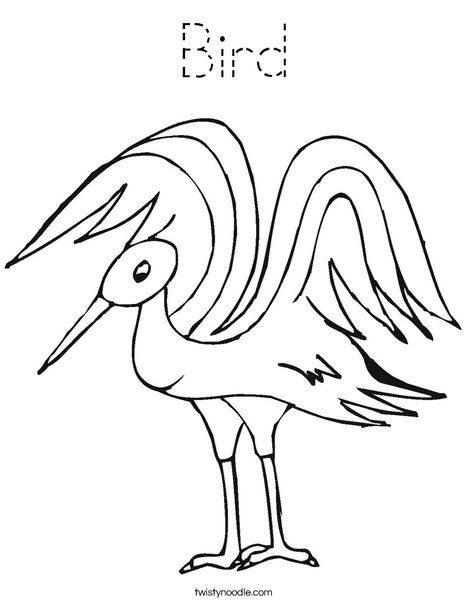 goosey lucy coloring pages   Bird Coloring Page - Tracing - Twisty Noodle