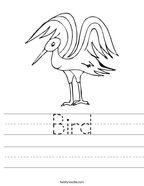 Bird Handwriting Sheet