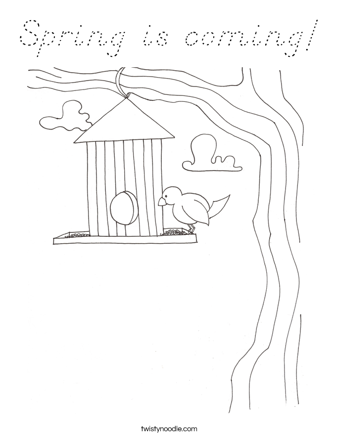 Spring is coming! Coloring Page