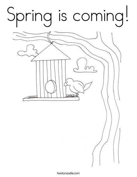 Birdhouse Coloring Page - Coloring Home | 605x468