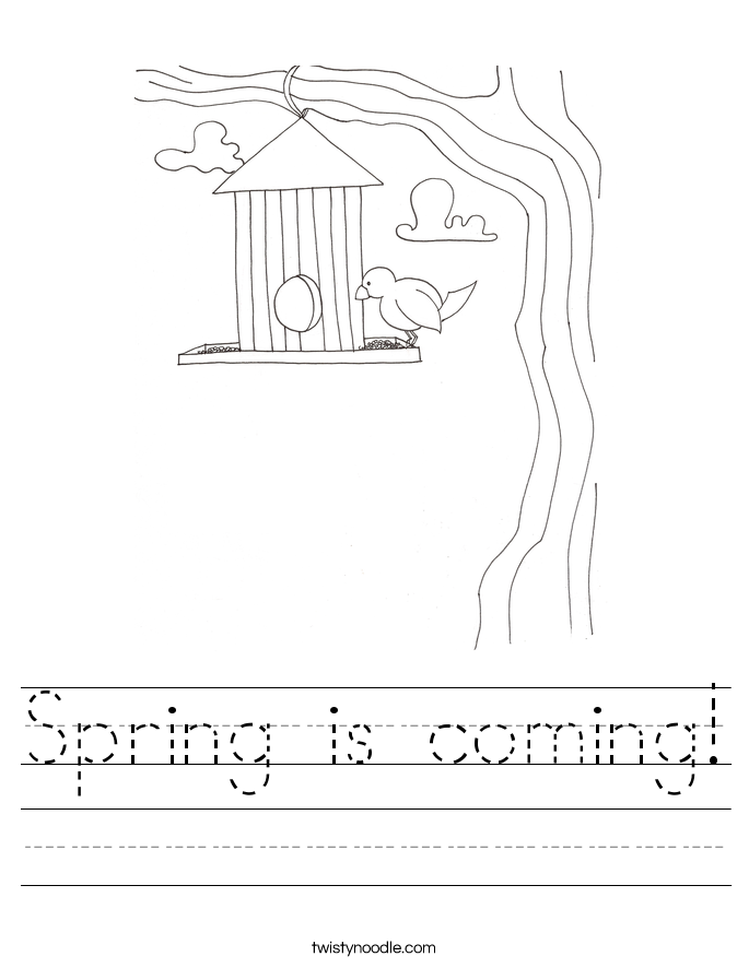 Spring is coming! Worksheet