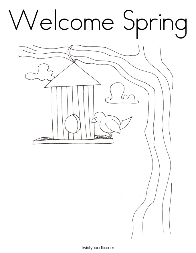 welcome spring coloring pages - photo#26