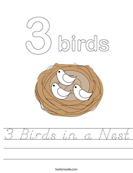 Birds in a Nest Worksheet