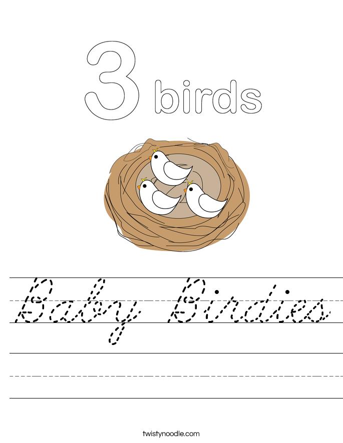 Baby Birdies Worksheet