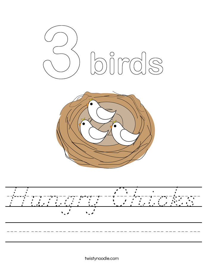 Hungry Chicks Worksheet