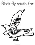 Birds fly south for Coloring Page