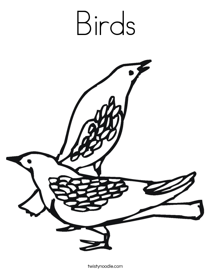 birds coloring page - Birds Coloring Pages