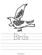 Birds Handwriting Sheet