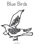 Blue Birds Coloring Page