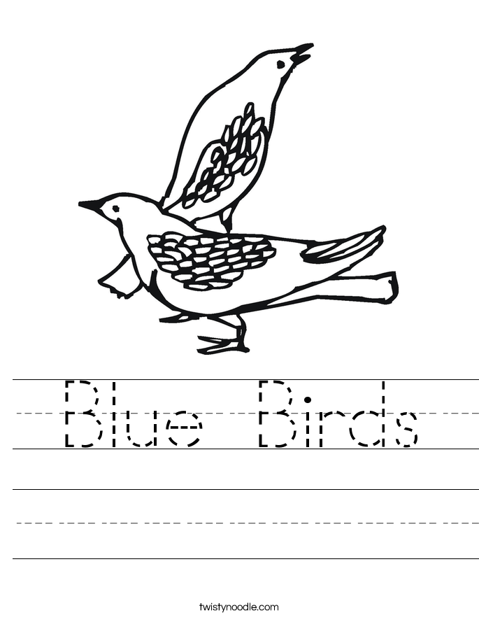 Blue Birds Worksheet