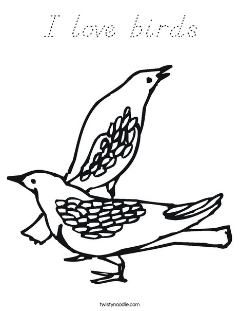 Two Birds Coloring Page