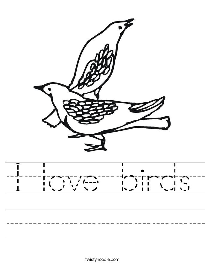I love birds Worksheet