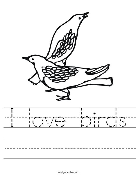 Two Birds Worksheet