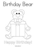 Birthday BearColoring Page