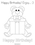 Happy Birthaday! Enjoy... :) Coloring Page