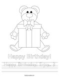 Happy Birthaday! Enjoy... :) Worksheet
