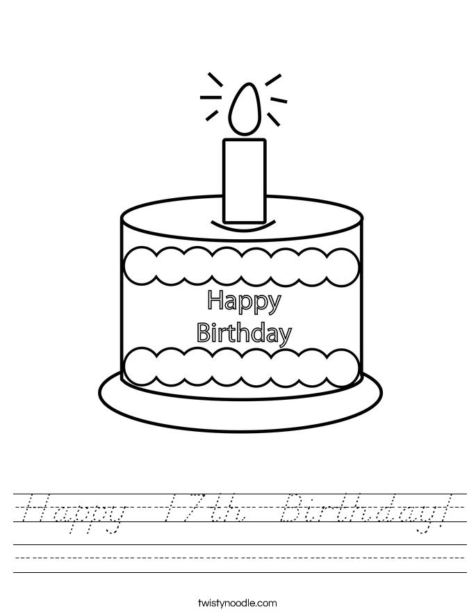 Happy  17th  Birthday! Worksheet