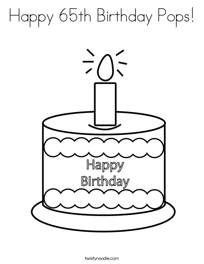 Happy 65th Birthday Pops! Coloring Page