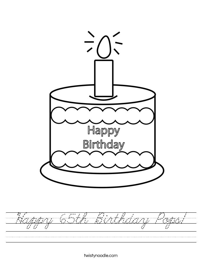 Happy 65th Birthday Pops! Worksheet