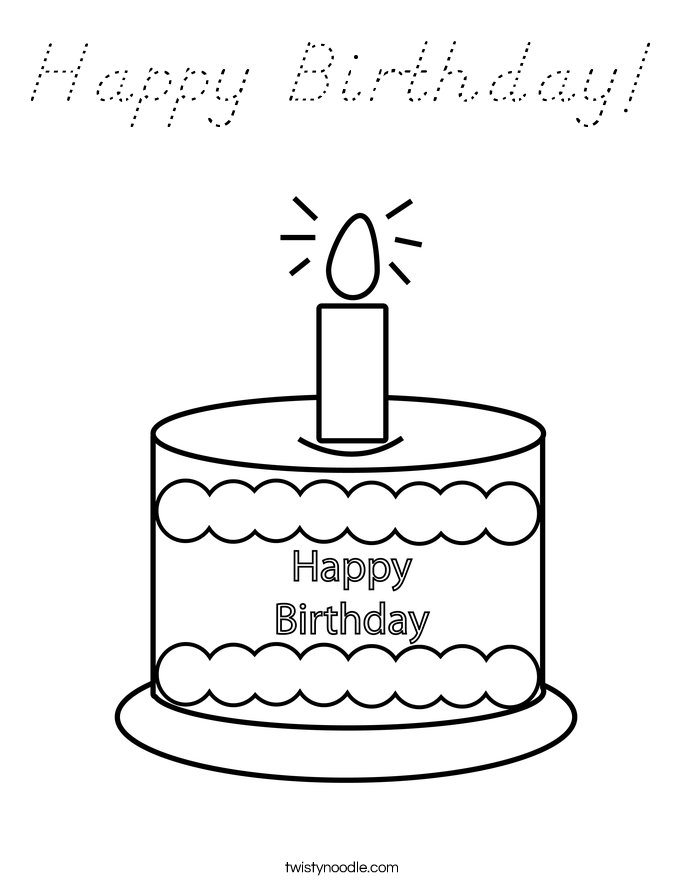 Happy Birthday! Coloring Page