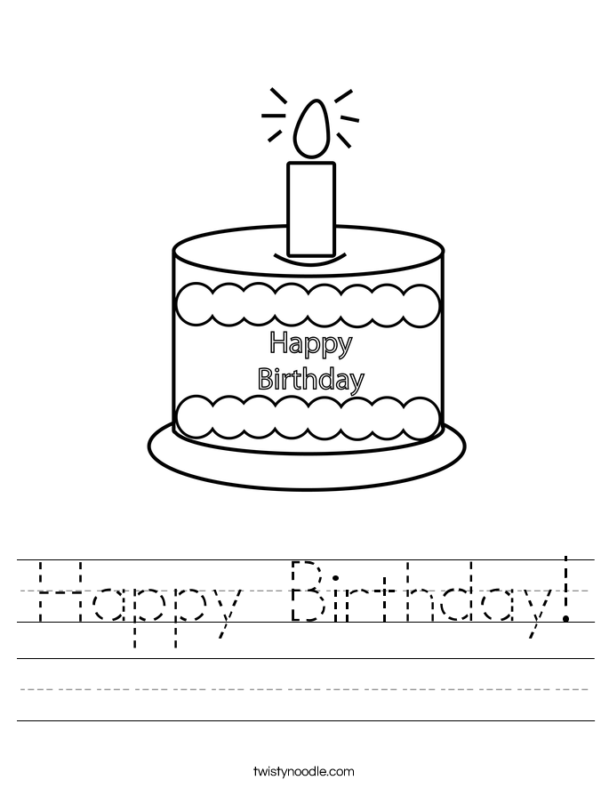 Happy Birthday! Worksheet
