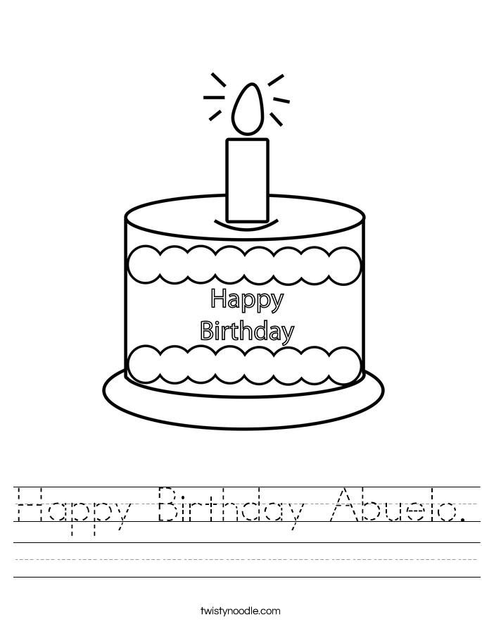 Happy Birthday Abuelo. Worksheet