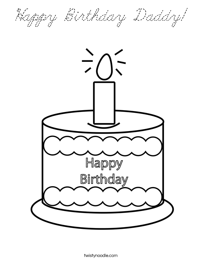 dltk birthday coloring pages - photo#33