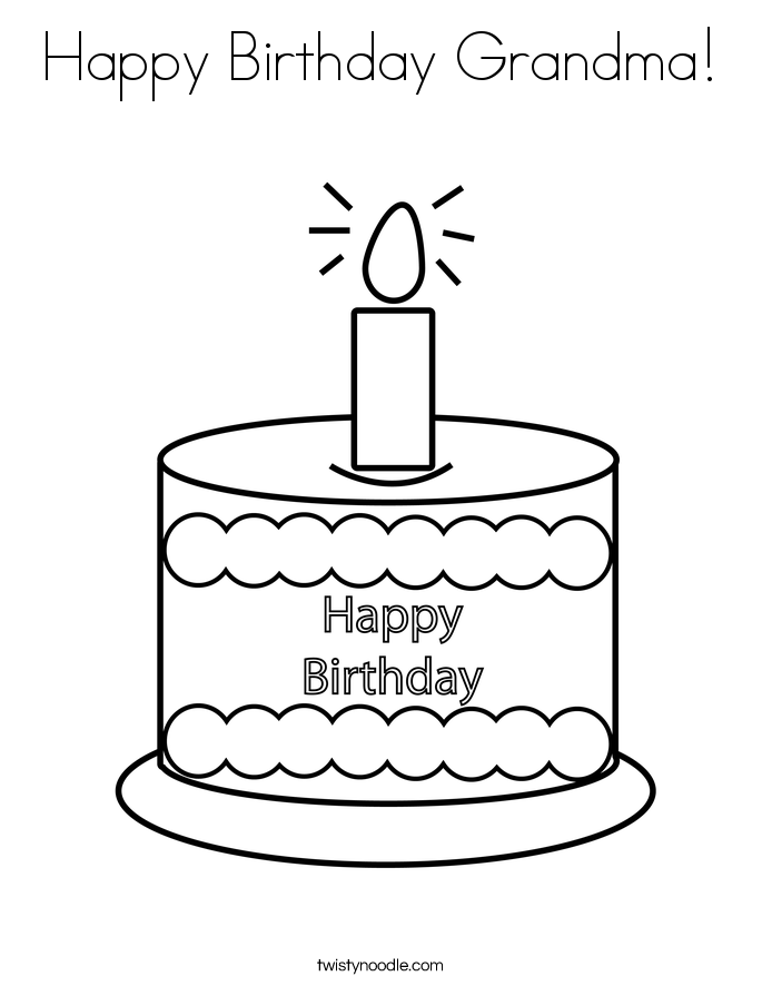 free birthday coloring pages grandmother - photo#21