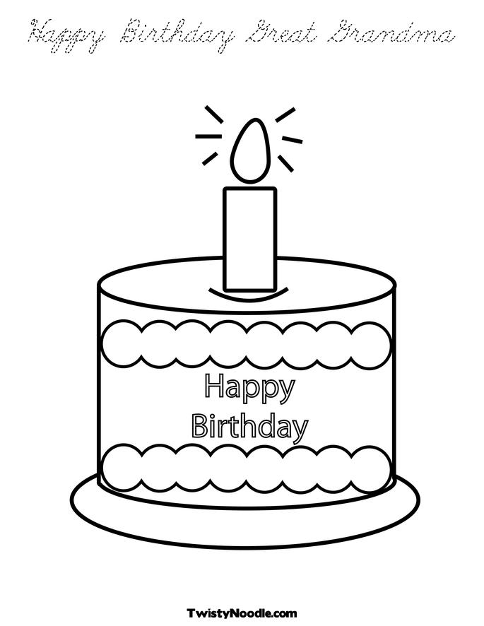birthday grandmother coloring pages - photo#17