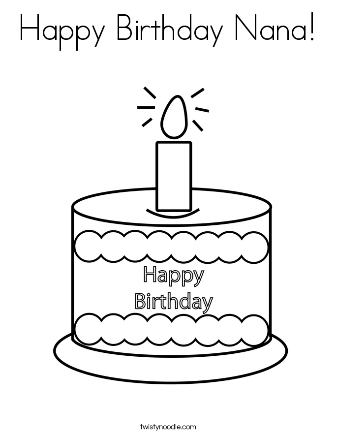 This is a photo of Amazing happy birthday nana coloring pages